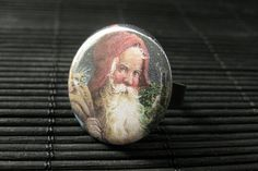 Santa Ring. Christmas Ring. Holiday Ring. Adjustable Ring in Bronze. Christmas Jewelry. Handmade Jewelry. by StumblingOnSainthood from Stumbling On Sainthood. Find it now at http://ift.tt/1XKeqTp!