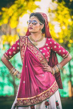 "Redstudio ""Portfolio"" Bridal Makeup - Bride Wearing a Gold Choker with a Green Emerald and Bronze Makeup, Gold Jewelry Tikka. WeddingNet #weddingnet #indianwedding #makeupandhair #weddingmakeup #weddinghair #hairbun #maangtikka #jewelry #goldjewelry"