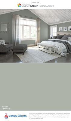 I found this color with ColorSnap® Visualizer for iPhone by Sherwin-Williams: Oyster Bay (SW 6206).