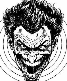 Black and white Joker by Jason Fabok
