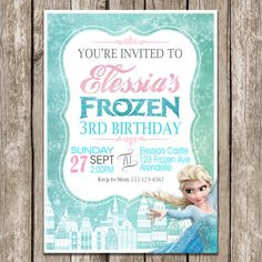 Etsy listing at https://www.etsy.com/listing/190631987/frozen-birthday-invitation-frozen