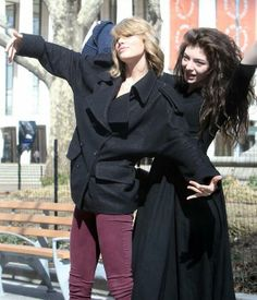 """Lorde & Taylor Swift.  """"come at me bro"""""""