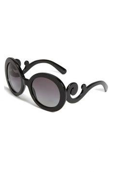 03b552b73f1 Prada PR27NS Sunglasses - 1AB 3M1 Black (Gray Gradient Lens) - 55mm