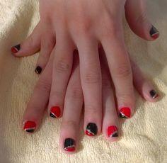 black and red-glitter stripe.. xmas design