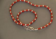 collier homme en Corail rouge véritable Corse (corallium rubrum) CH 551 : Bijoux pour hommes par les-tresors-de-la-corse
