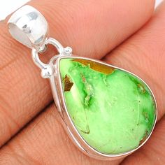 Variscite 925 Sterling Silver Pendant Jewelry VRSP181