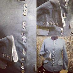 Nuovo capolavoro. GIACCA color calce Lino,mussola,madreperla. #siena #made #creativity #giacche #sartorial #SoloTuo