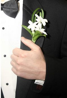 Stephanotis Boutonniere by Georgianne Vinicombe at Monday Morning Flower and , via Flickr