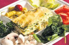 Rímske špenátové lasagne