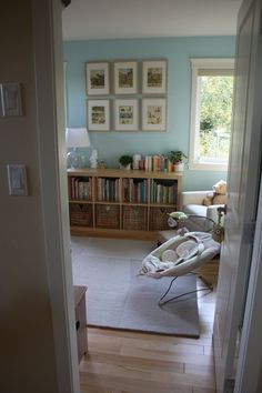 My Room: Little Driver — Sunshine Coast, BC | Apartment Therapy - love the birch with the blue.