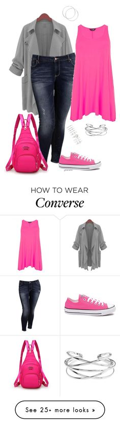 """Stuff to do- plus size"" by gchamama on Polyvore featuring Old Navy, Converse and Forever 21"