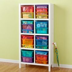 Kids art supply storage. I'm convinced this could hold all of P's books, toys, art stuff, and decor accessories!