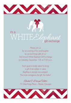 Elephant Exchange - Holiday Invitations by Invitation Consultants. (Item # IC-RLP-1027 )