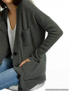 Cashmere Patch Pocket V Cardigan - NEW ARRIVALS