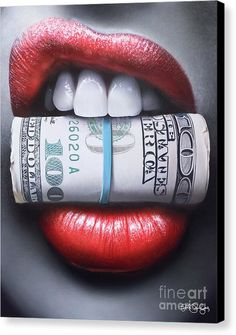 Put Your Money Where Your Mouth Is Canvas Print by Peter Perlegas
