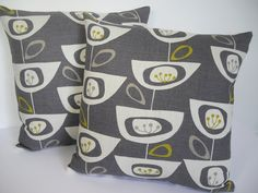 John Lewis Mid Century print Seedhead cushion cover  by Andshine, £13.90