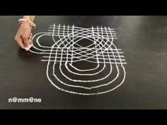 Easy and expandable Padi kolam - YouTube Small Rangoli Design, Rangoli Designs With Dots, Rangoli Designs Images, Beautiful Rangoli Designs, Mandala Design, Padi Kolam, Rangoli Ideas, Simple Rangoli, Projects To Try