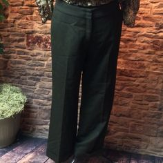 Brown J Crew career trousers 100% wool and fully lined trousers in dark brown.. Cuffed hem, back pockets and no belt loops..these are so nice and in perfect condition J. Crew Pants Trousers