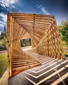 Denmark's EKKO Pavilion por Inhabitat Staff por Installation Architecture, Timber Architecture, Parametric Architecture, Pavilion Architecture, Parametric Design, Beautiful Architecture, Landscape Architecture, Landscape Design, Architecture Design