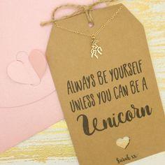 Personalised Unicorn Charm Friendship Necklace by MySparklyPie