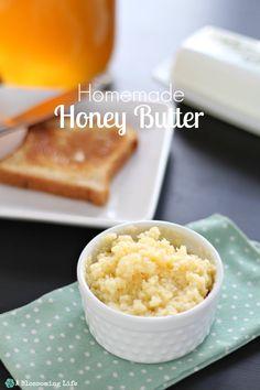 Homemade Honey Butter Recipe  ~::  A Blossoming Life  ::~