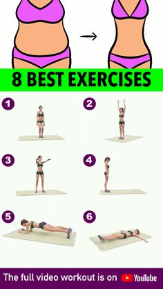 Workout At Home Videos Daily - Workout Fitness Workouts, Gym Workout Videos, Gym Workout For Beginners, Fitness Workout For Women, Sport Fitness, Mini Workouts, Beginner Yoga Workout, Full Body Gym Workout, Slim Waist Workout