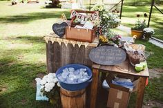 sent over this stunning, sun-soaked picnic wedding and we ate it up. But when we found out that it was held at her childhood home, we knew it was really special to her. See, Carly's brother m…