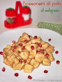 Chicken with pomegranate - Bocconcini di pollo al melograno