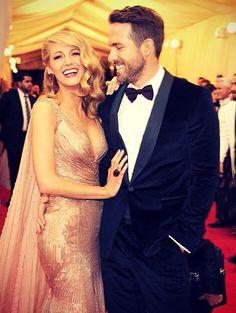 Blake Lively & Ryan Reynolds Met Gala 2014