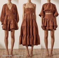 Crop Top Outfits, Mode Outfits, Summer Outfits, Summer Dresses, Simple Dresses, Cute Dresses, Casual Dresses, Fashion Dresses, Creation Couture