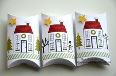 Weihnachtliche Pillow-Box 1a