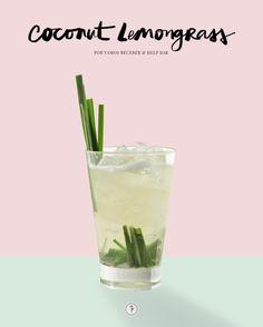 Bebida, Receita, Coconut Lemongrass