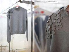 DIY Sweatshirt / Como decorar tu viejo suéter                                                                                                                                                      Más