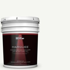 BEHR MARQUEE 5 gal. #hdc-CT-18G Cotton Ball Flat Exterior Paint