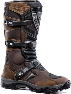 Shop for Boots, like Forma Adventure Boots at Rocky Mountain ATV/MC. We have the best prices on dirt bike, atv and motorcycle parts, apparel and accessories and offer excellent customer service. Brown Motorcycle Boots, Brown Riding Boots, Motorcycle Outfit, Motorcycle Accessories, Brown Boots, Moto Boots, Dirt Bike Boots, Motorcycle Helmet, Motorcycle Parts