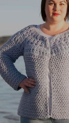 Crochet Polus Cardigan - FREE Crochet Pattern The crochet Polus Cardigan is a great crochet garment for your wardrobe. This crochet pattern is crocheted from the top down, round yoke & a shaped waist. Gilet Crochet, Crochet Cardigan Pattern, Tunisian Crochet, Shrug Pattern, Pull Crochet, Crochet Baby, Free Crochet, Knitting Blogs, Knitting Patterns