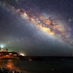 El Cielo de Canarias » Faro de Fuencaliente y vía láctea