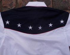 a94bce9d Rockmount Ranch Wear Mens Vintage Western Flag Shirt Back Flag Shirt, Western  Shirts, American