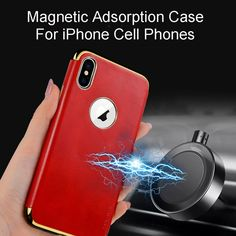 iPhone X / Xs /Xr /Xs Max Case Leather Magnetic Back Cover For Car Holder Stand Retro Business Luxury Accessories Store, Phone Accessories, Car Holder, Apple Iphone 6, Vintage Leather, Magnets, Iphone Cases, Personalized Items, Retro
