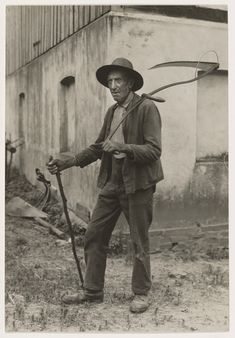 He's coming for all of us sooner or later.  [Farmer, Eifel (Bauer aus der Eifel)]; August Sander; Germany; 1930