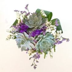"Succulent Bouquet ""Nicole"" Purple and green bouquet Prom Flowers, Fake Flowers, Beautiful Flowers, Wedding Flowers, Wedding Bouquets, Order Flowers, Wedding Colors, Beautiful Things, Succulent Bouquet"