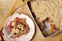 Tips for Using Rhubarb for Dessert. Vegan recipes included. Pictured: Classic Rhubarb Crisp – A Summer Tradition.