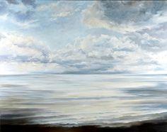 Brush Strokes, Waves, Victoria, Ocean, Clouds, Paintings, Oil, Landscape, Summer
