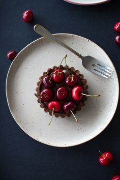 Chocolate Coconut Cherry Tarts