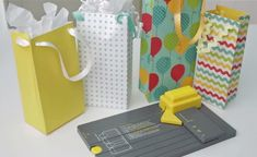 DIY Personalized Gift Bags and Boxes using Punch Boards by We R Memory Keepers