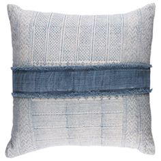 Surya Lola Horizontal Stripe Decorative Pillow SULL003