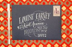 Oh So Beautiful Paper: Envelope Address Hand Lettering Tutorial from Ladyfingers Letterpress