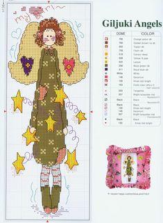Schema punto croce Angel4
