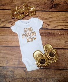 d0c741e95 Brand Sparkling New Baby Onesie, Baby Clothes by LoveAndMonograms on Etsy  https://