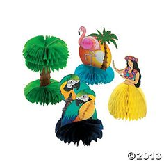 Mini Tropical Decorations